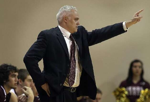 Texas State coach Doug Davalos has seen his team rebound from a tough early season stretch, which included a loss to NAIA Our Lady of the Lake University, to the lead of the Southland's Western Division. The Bobcats have a chance to end their 14-year NCAA tournament drought. KIN MAN HUI/kmhui@express-news.net