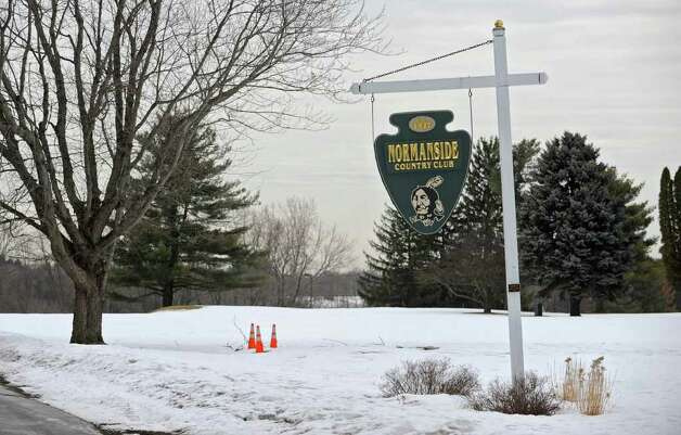 A sign at the entrance to Normanside Country Club in Delmar, NY on Thursday, February 24, 2011.  (Lori Van Buren / Times Union) Photo: Lori Van Buren