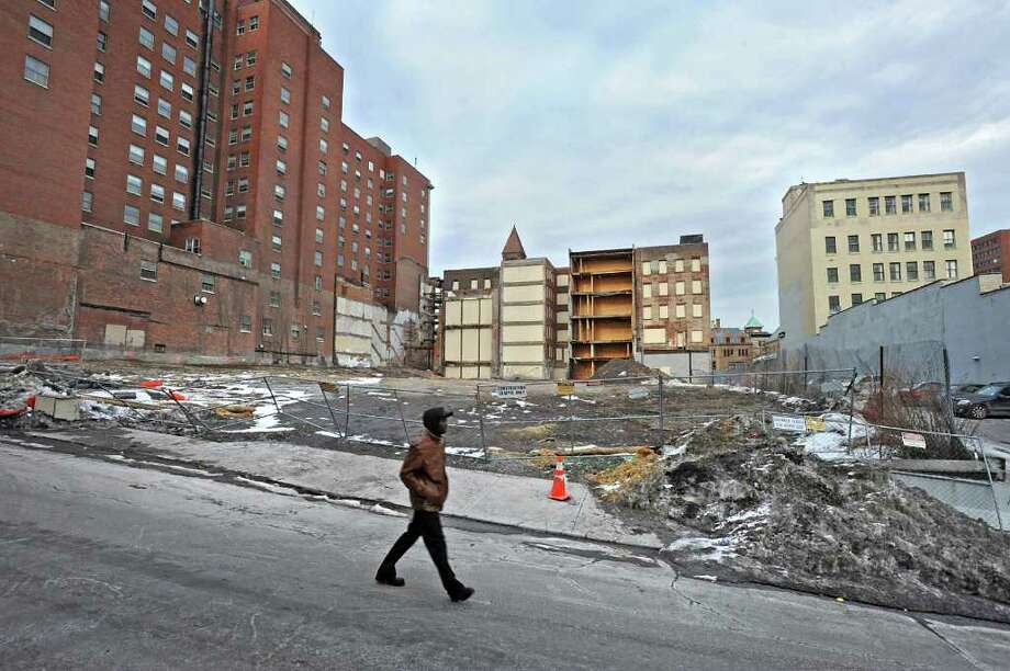 Lot on Howard St in Albany, NY on Thursday, February 24, 2011. The property is set for a commercial complex and 11-story office tower.  (Lori Van Buren / Times Union) Photo: Lori Van Buren