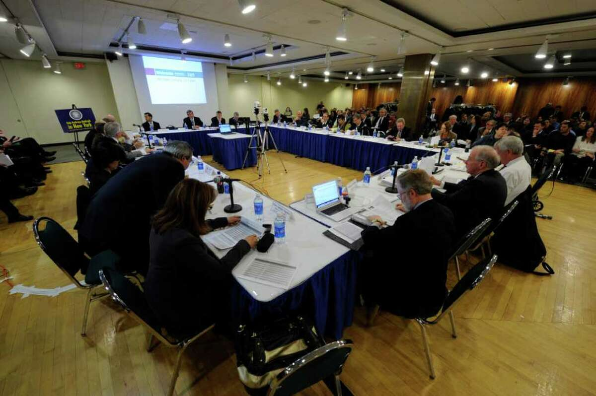 The Medicaid Redesign Team meets during open meeting at the Empire State Plaza in Albany, New York February 24, 2011. (Skip Dickstein / Times Union)