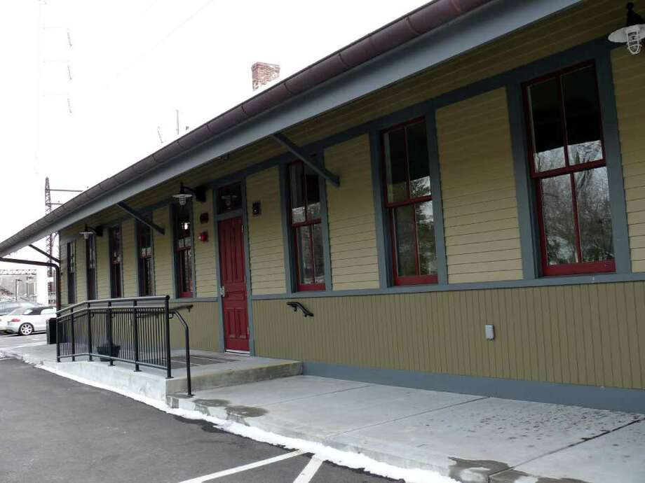 "After undergoing a historically accurate $2.4 million restoration following a 2008 fire, the westbound waiting room at the Southport station offers only shelter to commuters. A local man is hoping to open a coffee shop, ""Cafe Society,"" there. Photo: Genevieve Reilly / Fairfield Citizen"