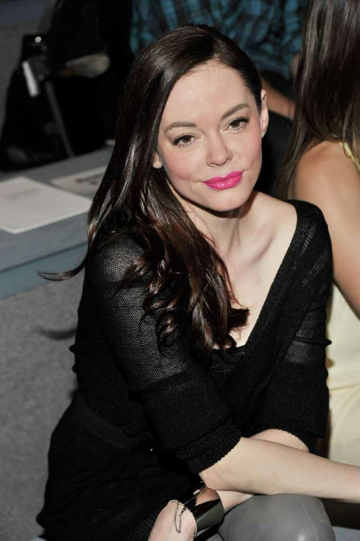 NEW YORK, NY - FEBRUARY 13: Actress Rose McGowan attends the Max Azria Fall 2011 fashion show during Mercedes-Benz Fashion Week at The Stage at Lincoln Center on February 13, 2011 in New York City. (Photo by Stephen Lovekin/Getty Images for IMG) *** Local Caption *** Rose McGowan