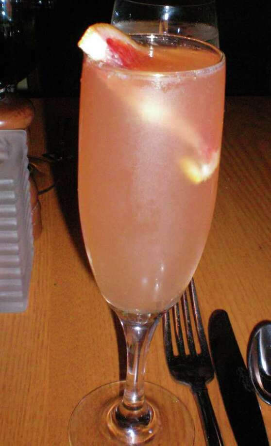The Peach Bellini at the Greenhouse Grill in Fairfield. Photo: Contributed Photo/Patti Woods / Fairfield Citizen contributed