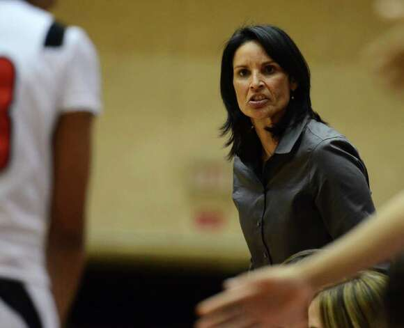 Wagner head coach Christina Camacho shouts instructions to her players during the Region IV-5A girls semifinal basketball game between the Wagner T-Birds and the Harlingen South in the UTSA Convocation Center in San Antonio, Texas on February 25, 2011  John Albright / Special to the Express-News. Photo: JOHN ALBRIGHT, San Antonio Express-News / San Antonio Express-News