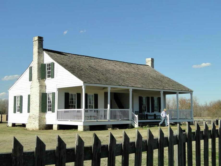 The dogtrot home of physician and politician Anson Jones, the last president of the Republic of Texas, was reconstructed at Barrington Living History Farm at Washington-on-the-Brazos State Historic Site. Costumed interpreters at the farm tend crops and livestock as might have done on Jones' Washington County plantation in the 1850s. Photo: Tracy Hobson Lehmann