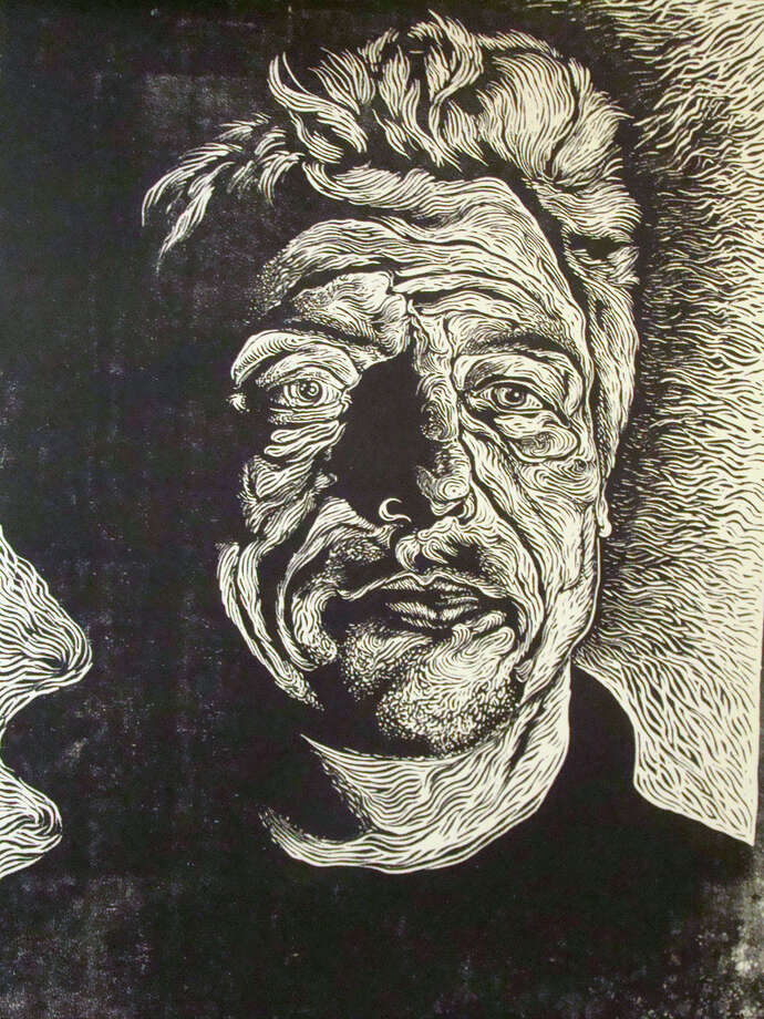 Alex Rubio's portrait of Chuck Ramirez will be part of an exhibit at Stone Metal Press. COURTESY STONE METAL PRESS