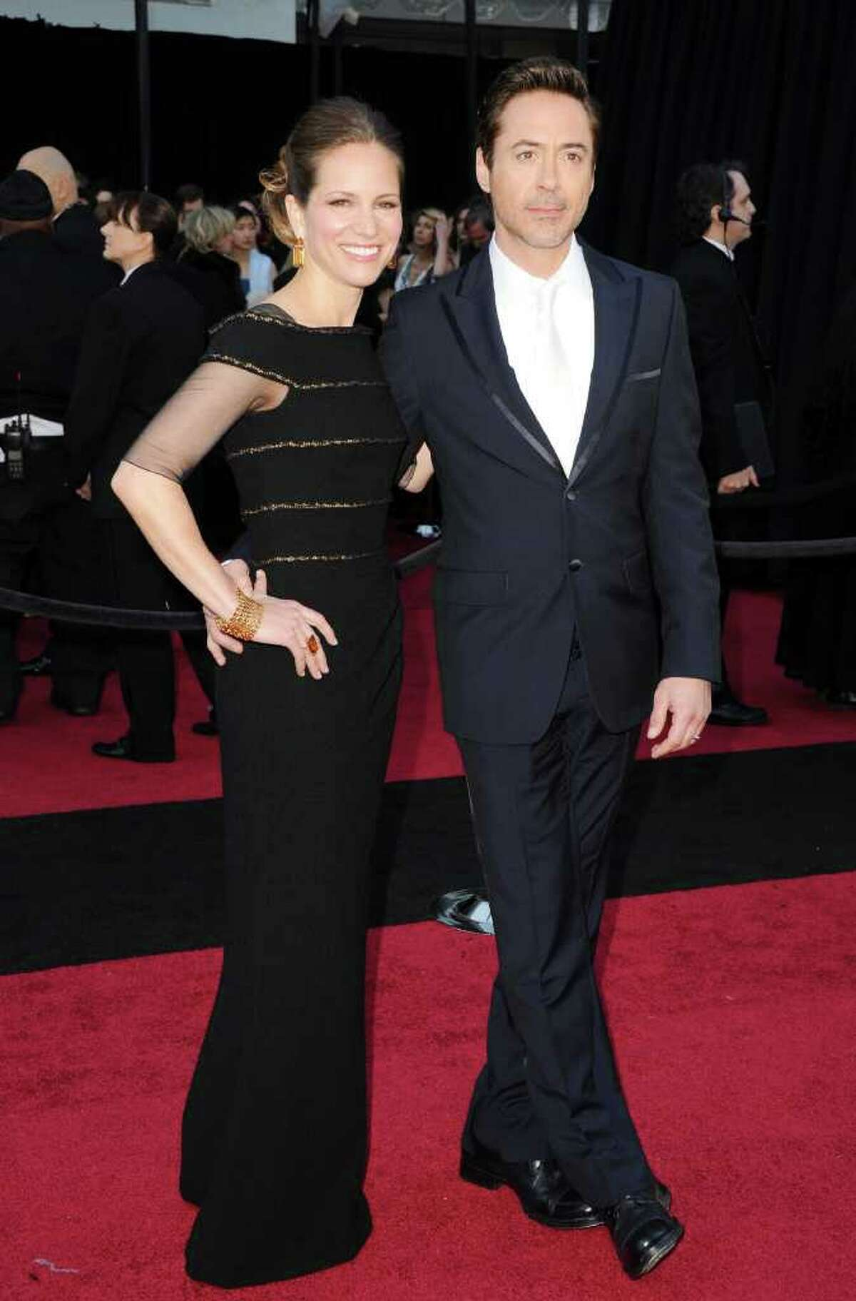 HOLLYWOOD, CA - FEBRUARY 27: Actor Robert Downey Jr. (R) and producer Susan Downey arrive at the 83rd Annual Academy Awards held at the Kodak Theatre on February 27, 2011 in Hollywood, California. (Photo by Jason Merritt/Getty Images) *** Local Caption *** Susan Downey;Robert Downey Jr.