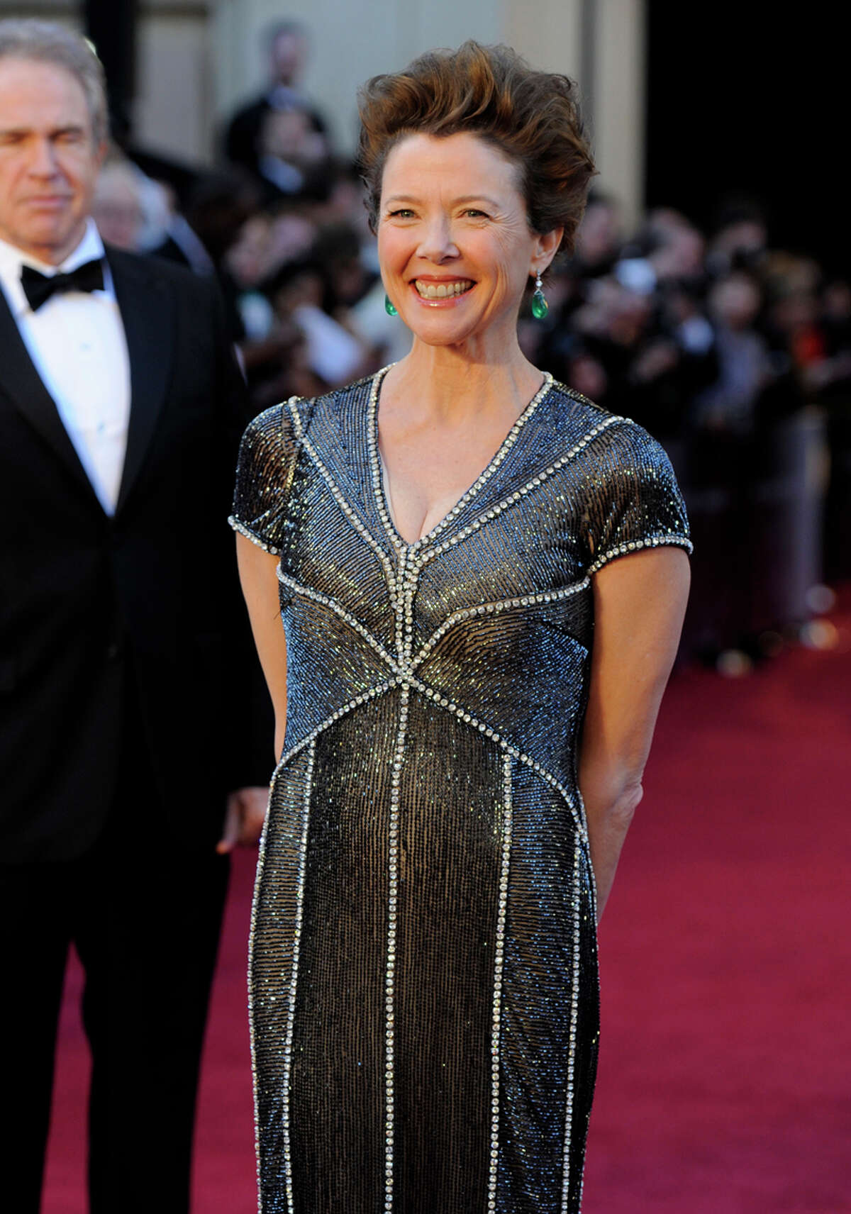 Annette Bening, aka Sparkle Frumpy. Commentary by the Houston Chronicle's Kyrie O'Connor of the MeMo blog. Photo by the Associated Press.
