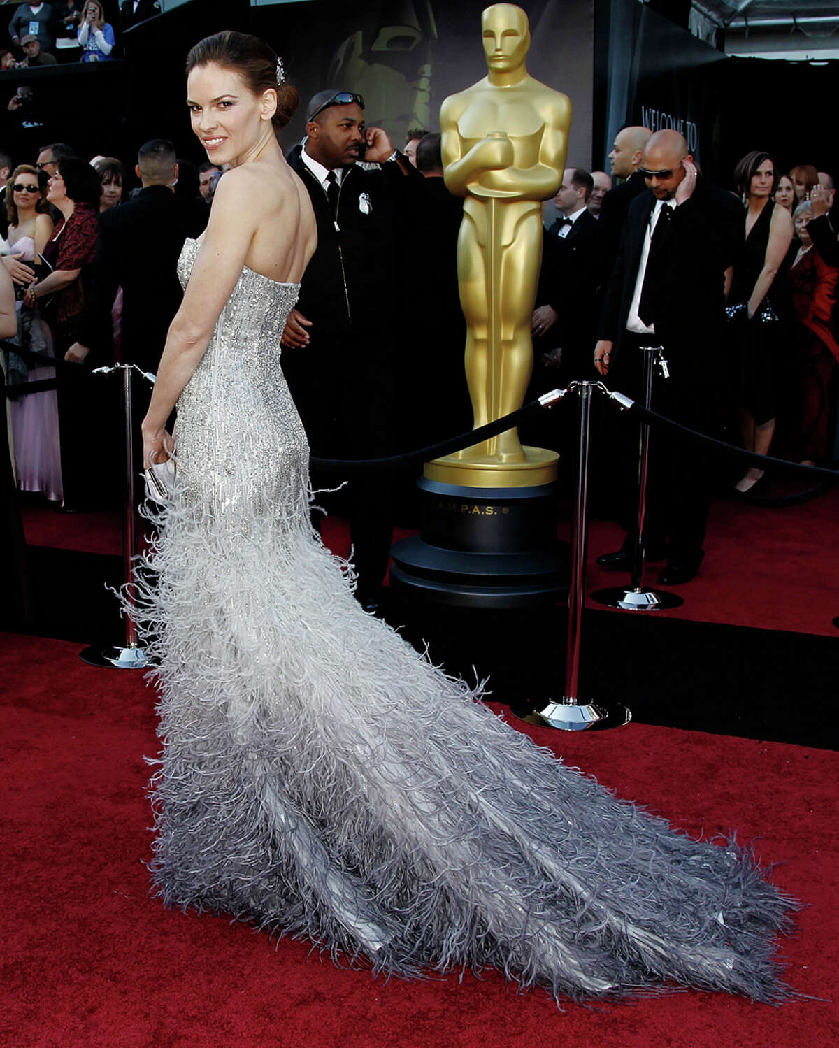 Hilary Swank, we knew Ginger Rogers, and you're no Ginger Rogers. Commentary by the Houston Chronicle's Kyrie O'Connor of the MeMo blog. Photo by the Associated Press.
