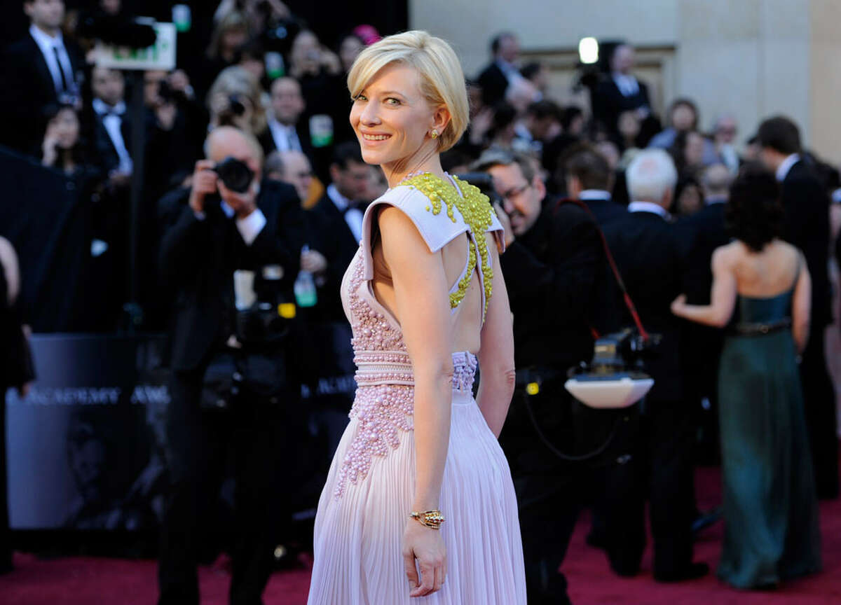 SHE CAME FROM OUTERSPACE: Hey, Cate Blanchett! What the frock?! You came to Planet Earth's most glamorous party in something from out of this world: a sci-fi siren gown from a sci-fy retro B-flick.