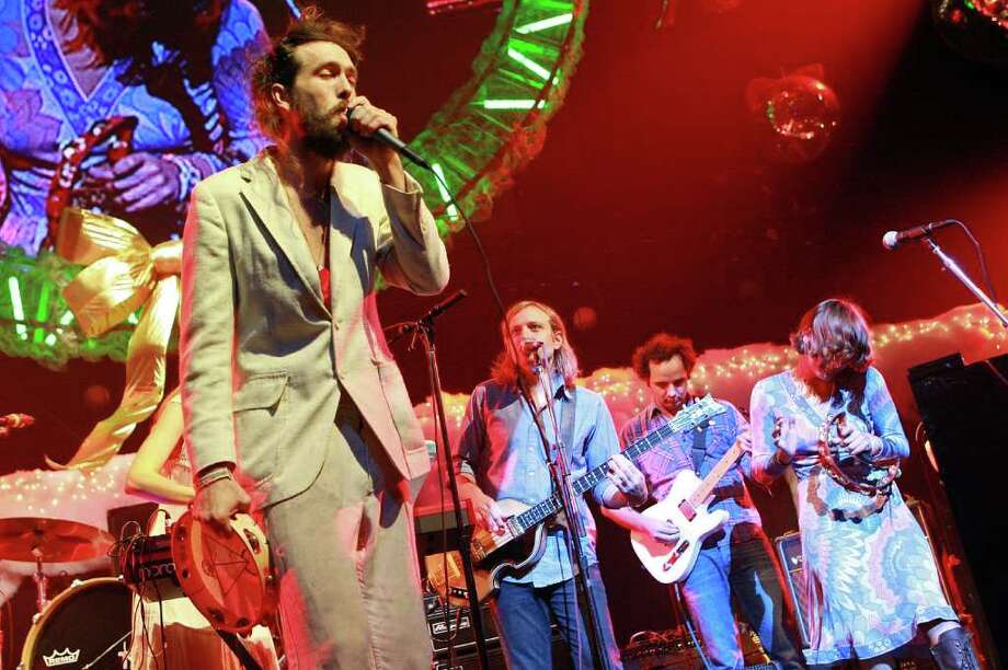 Edward Sharpe and the Magnetic Zeros: Sunday, June 1 at 6:40 p.m.Mars StageAlex Ebert's very popular, very big band is a festival favorite thanks to the folksy sing-a-long quality of its songs. Photo: Karl Walter, Getty Images / Getty Images 2011