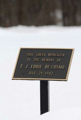Dedication sign near a green at Normanside Country Club in Delmar, NY on January 26, 2011.  (Lori Van Buren / Times Union) Photo: Lori Van Buren