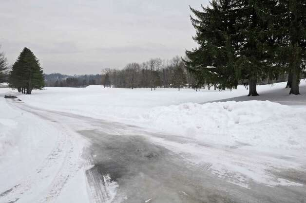View of a snow covered fairway at Normanside Country Club in Delmar, NY on January 26, 2011.  (Lori Van Buren / Times Union) Photo: Lori Van Buren