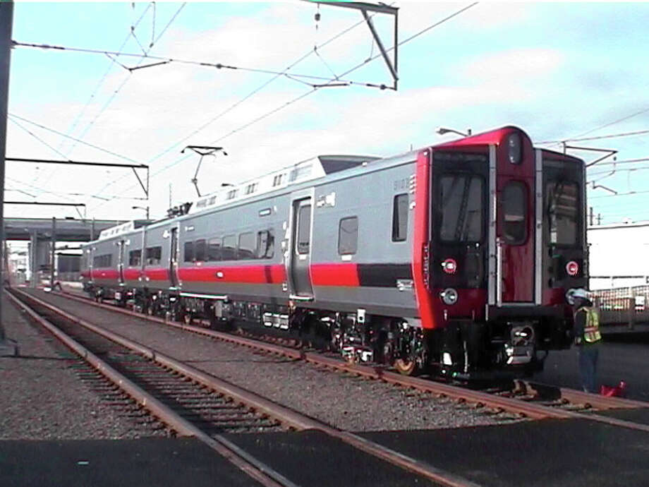 One of the Metro-North Railroad's eight new M-8 railcars is shown. Photo: Contributed Photo, ST / Stamford Advocate Contributed