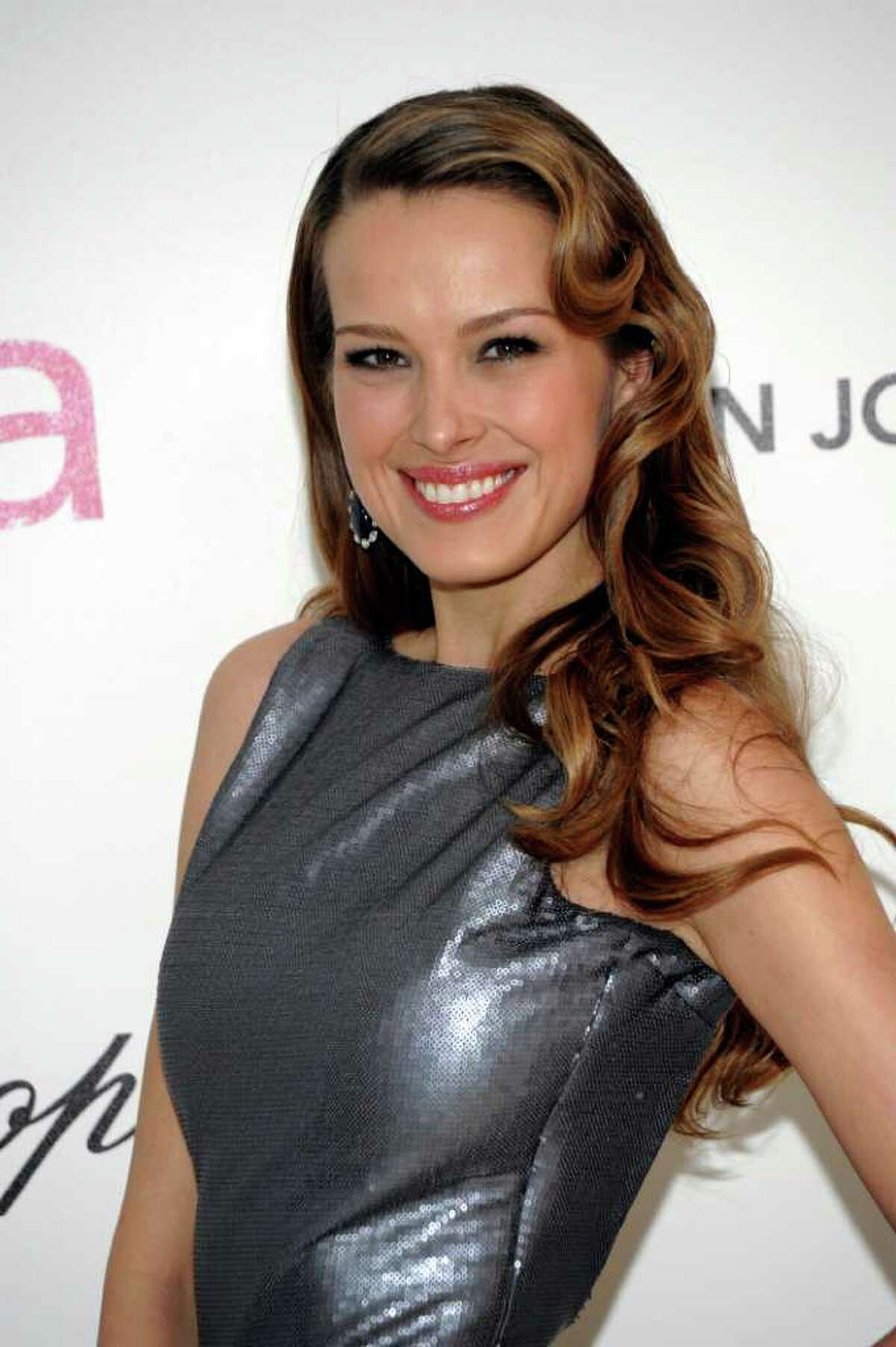 FILE - In this Feb. 27, 2011 file photo, Petra Nemcova arrives at the 2011 Elton John Academy Award viewing party in West Hollywood, Calif. Nemcova will be one of the contestants on the new season of Dancing with the Stars.