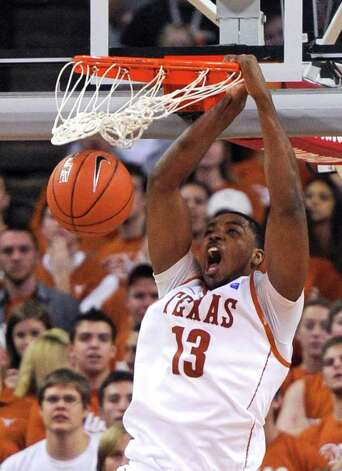 Texas forward Tristan Thompson dunks the ball during the second half on Monday, Feb. 28, 2011, in Austin. Kansas State won 75-70. Photo: Michael Thomas/Associated Press