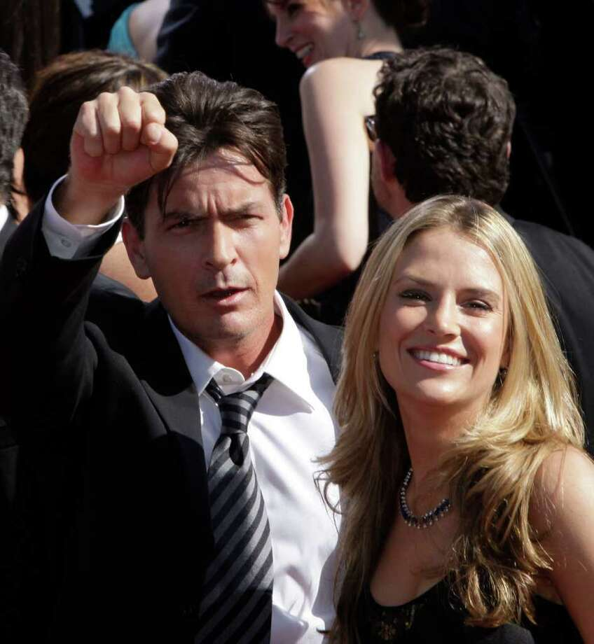 *** FILE *** Actor Charlie Sheen and Brooke Mueller arrive at the 59th Primetime Emmy Awards Sunday, Sept. 16, 2007, at the Shrine Auditorium in Los Angeles. Charlie Sheen tied the knot with fiance Brooke Mueller Friday night May 30, 2008, said publicist Stan Rosenfield, who declined to give more details. Photo: Kevork Djansezian, AP / AP
