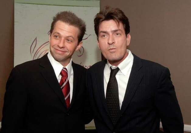 Actors Charlie Sheen, right, and Jon Cryer attend the 9th annual benefit for the Lili Claire Foundation held at the Beverly Hilton Hotel Saturday, Oct. 14, 2006 in Beverly Hills, Calif. Photo: PHIL MCCARTEN, AP / AP