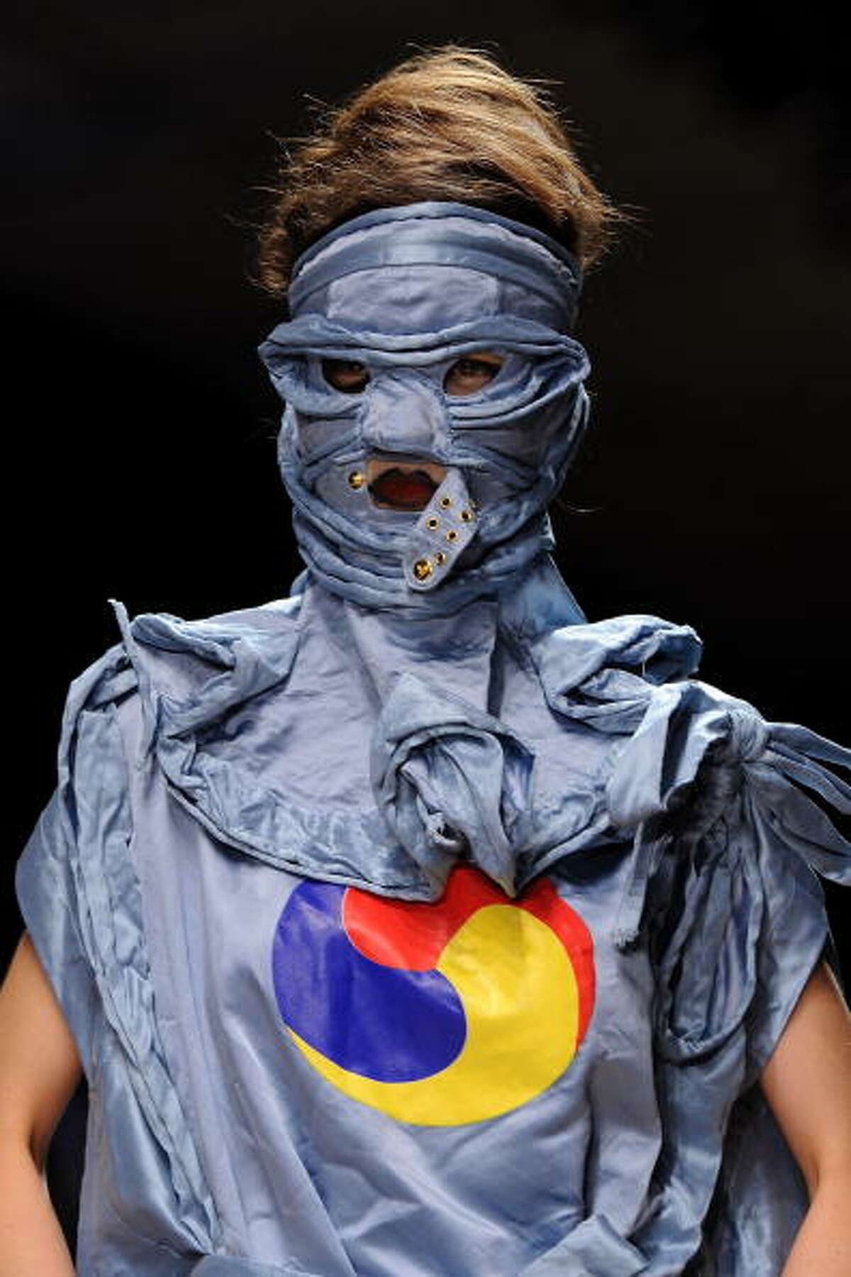 PARIS - OCTOBER 01: A model walks the runway during the Vivienne Westwood Ready to Wear Spring/Summer 2011 show during Paris Fashion Week on October 1, 2010 in Paris, France. (Photo by Pascal Le Segretain/Getty Images)