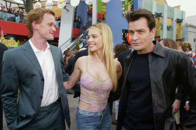 "Neil Patrick Harris, Denise Richards and Charlie Sheen at the premiere of ""Undercover Brother"" at the Universal CityWalk in Los Angeles, Ca. Thursday, May 30, 2002. Photo by Kevin Winter/ImageDirect. Photo: Kevin Winter, Getty Images / Getty Images North America"