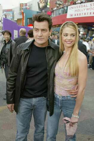 "Charlie Sheen and Denise Richards at the premiere of ""Undercover Brother"" at the Universal CityWalk in Los Angeles, Ca. Thursday, May 30, 2002. Photo by Kevin Winter/ImageDirect. Photo: Kevin Winter, Getty Images / Getty Images North America"