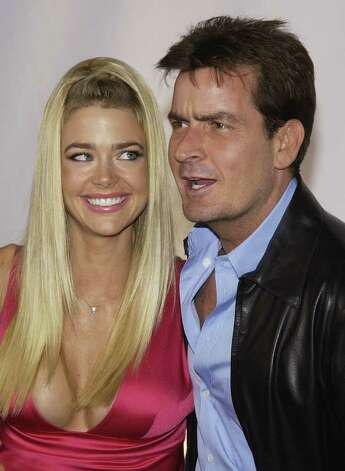 "BEVERLY HILLS, CA - SEPTEMBER 9:  Actor Charlie Sheen and wife, actress Denise Richards attend the inaugural ""Rodeo Drive Walk of Style"" event honoring designer Giorgio Armani on September 9, 2003 in Beverly Hills, California. Photo: Vince Bucci, Getty Images / 2003 Getty Images"