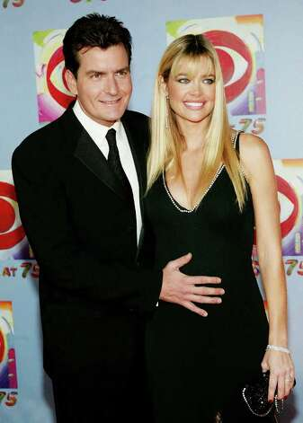 "NEW YORK - NOVEMBER 2:  (HOLLYWOOD REPORTER OUT) Actor Charlie Sheen and pregnant wife actress Denise Richards attend ""CBS at 75"" television gala at the Hammerstein Ballroom November 02, 2003 in New York City. Photo: Evan Agostini, Getty Images / 2003 Getty Images"
