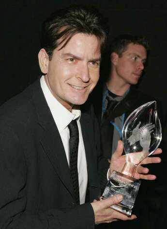 LOS ANGELES - JANUARY 09:  (EXCLUSIVE ACCESS) Charlie Sheen backstage during the 33rd Annual People's Choice Awards held at the Shrine Auditorium on January 9, 2007 in Los Angeles, California. Photo: Frazer Harrison / 2007 Getty Images