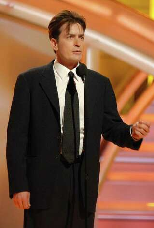 BEVERLY HILLS, CA - JANUARY 15:  In this handout photo provided by the Hollywood Foreign Press Association, actor Charlie Sheen appears onstage during the 64th Annual Golden Globe Awards at the Beverly Hilton on January 15, 2007 in Beverly Hills, California.  (Photo by Bob Long/HFPA via Getty Images) Photo: Handout / 2007 HFPA
