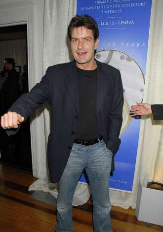 LOS ANGELES, CA - FEBRUARY 15:  Actor Charlie Sheen arrives at a cocktail reception for Omegamania-Antiquarium's preview of 300 collector's Omega timepieces soon to be auctioned at the Beverly Wilshire Hotel on February 15, 2007 in Los Angeles, California.  (Photo by Charley Gallay/Getty Images) *** Local Caption *** Charlie Sheen Photo: Charley Gallay, Getty Images / 2007 Getty Images