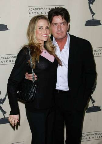 "NORTH HOLLYWOOD, CA - FEBRUARY 27:  Actress Brooke Mueller (L) and actor Charlie Sheen arrives at the Evening with ""Two And A Half Men"" at the Leonard Goldenson Theater on February 27, 2008 in North Hollywood, California. Photo: Michael Buckner, Getty Images / 2008 Getty Images"
