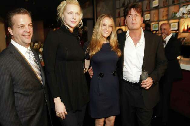 HOLLYWOOD - MARCH 27: (L-R) Guest with actress Laura Prepon, Brooke Allen and actor Charlie Sheen pose during the NY rescue workers detoxification project charity event held at Geisha House on March 27, 2008 in Hollywood, California. The method of detox was developed by Scientology founder L. Ron Hubbard and has been used by many physicians as treatment in a medical setting. Nearly 900 rescue workers have completed the program free of charge. Photo: Michael Buckner / 2008 Getty Images