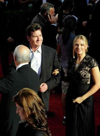 LOS ANGELES, CA - SEPTEMBER 20: Actor Charlie Sheen and wife Brooke Allen arrive at the 61st Primetime Emmy Awards held at the Nokia Theatre on September 20, 2009 in Los Angeles, California.  (Photo by Kevork Djansezian/Getty Images) *** Local Caption *** Charlie Sheen;Brooke Allen Photo: Kevork Djansezian, Getty Images / 2009 Getty Images