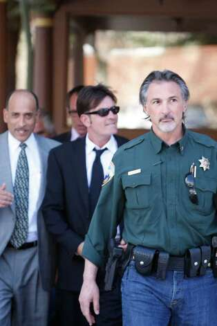 ASPEN, CO - MARCH 15: Charlie Sheen (C) (aka Carlos Irwin Estevez) attends his court appearance on March 15, 2010 in Aspen, Colorado. (Photo by Riccardo S. Savi/Getty Images) *** Local Caption *** Charlie Sheen Photo: Riccardo S. Savi, Getty Images / 2010 Getty Images