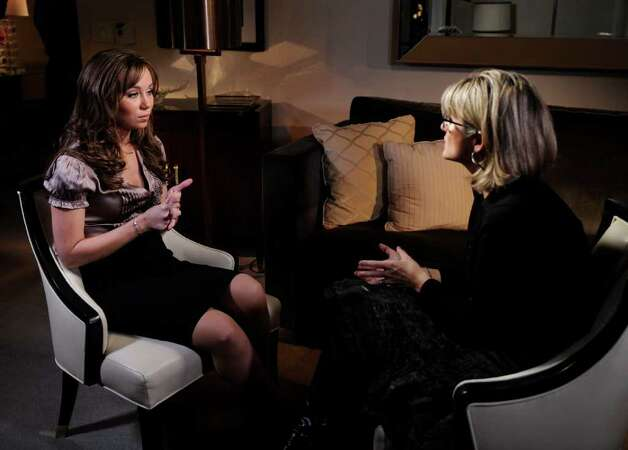 NEW YORK - NOVEMBER 20, 2010:  In this handout image provided by Disney ABC Television Group, ABC News' Ashleigh Banfield talks to Capri Anderson, the woman who was found in actor Charlie Sheen's hotel room the morning of his arrest last month, who is speaking out for the first time on network television on Monday November 22, 2010 on ABC News. The interview airs on  Nightline (11:35pm, ET) on the ABC Television Network. (Photo by Ida Mae Astute/ABC via Getty Images) *** Local Caption *** Capri Anderson, Ashleigh Banfield Photo: Handout, Getty Images / 2010 American Broadcasting Companies, Inc.