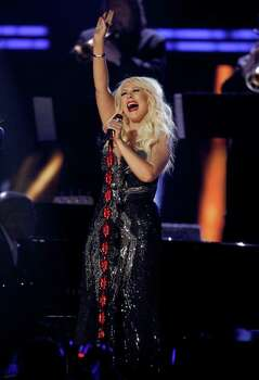 Christina Aguilera performs onstage at the 53rd annual Grammy Awards on Sunday, Feb. 13, 2011, in Los Angeles. Photo: AP