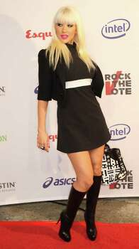"""archiveplease LOS ANGELES, CA - SEPTEMBER 25:  Recording artist Christina Aguilera attends the Esquire House Hollywood Hills """"Rock The Vote"""" party on September 25, 2008 in Los Angeles, California. Photo: Frederick M. Brown, Getty Images / 2008 Getty Images"""