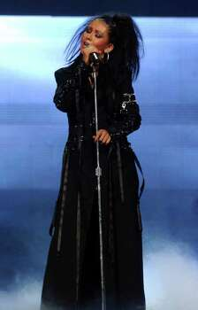 Christina Aguilera performs at the Oakland Arena on Friday June 6, 2003. Her concert is part of the Stripped Justified Tour with Justin Timberlake. Photo: JAKUB MOSUR, AP / AP