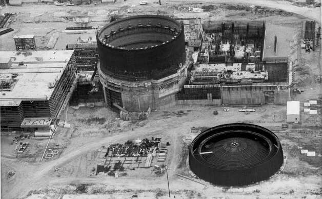 THEN AND NOW 060803 - FILE -    This 1982 photo shows the Unit 2 reactor of the South Texas Project nuclear plant as it appeared under construction. Although Unit 2 remains operating this summer, the Bay City plant, the state's first nuclear facility, has had both costly shutdowns and periods of high productivity.   Express-News Files Photo: STEVE KRAUSS, FILE / SAN ANTONIO EXPRESS-NEWS