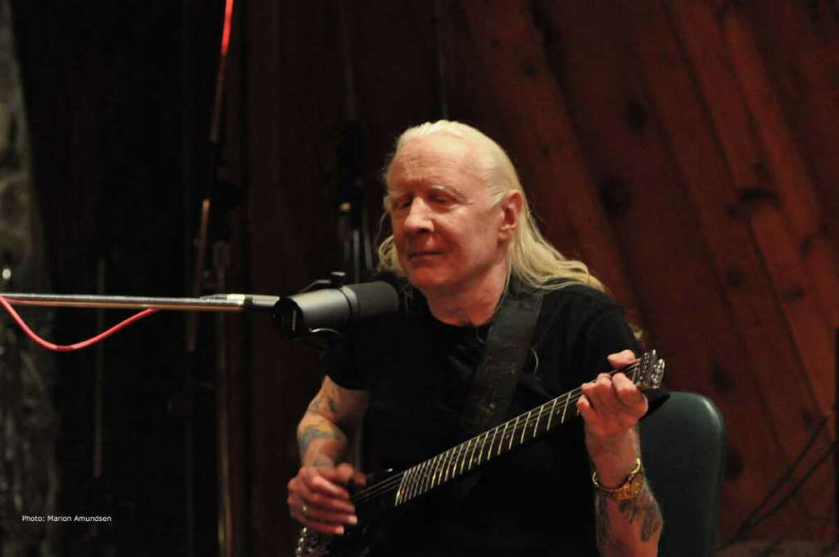 Blues legend Johnny Winter performs during a February recording session at Carriage House Studios in Stamford. Marion Amundsen/Contributed Photo.