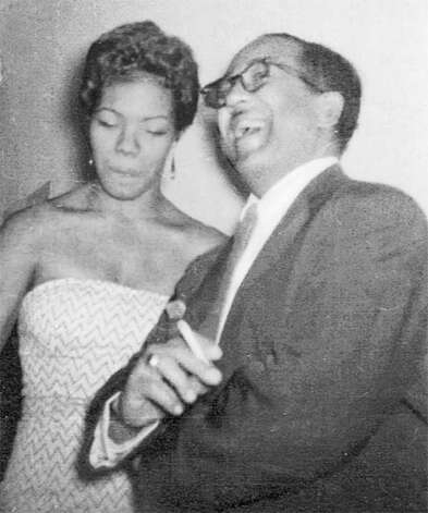 Maya Angelou with poet Langston Hughes. Photo: Contributed Photo / Greenwich Citizen