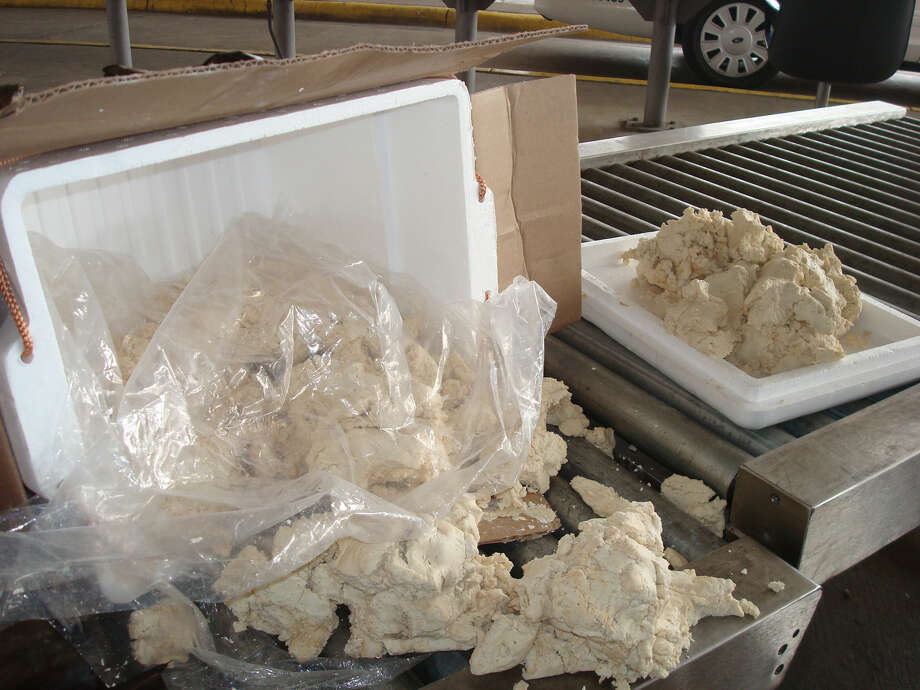 Two ice chests containing 58 pounds of alleged iguana meat were found on a bus from Mexico bound for Texas.