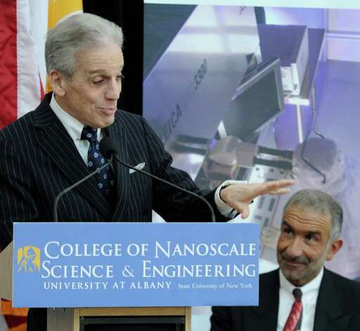 "Dr. John C. LaRosa, President of SUNY Downstate Medical Center(L) and Dr. Alain E. Kaloyeros, Senior Vice President and CEO of College of Nanoscale Science and Engineering(CNSE)(r) made the announcement that The University at Albany and the SUNY Downstate Medical Center joined together to start the ""world's first"" program for research physicians in nanoscale medicine on the University at Albany Campus in Albany, New York March 1, 2011.   (Skip Dickstein / Times Union) Photo: Skip Dickstein / 2008"