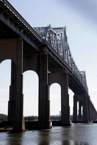 The Goethals Bridge is seen from Elizabeth, N.J., Tuesday, March 1, 2011.  (AP Photo/Seth Wenig) Photo: Seth Wenig