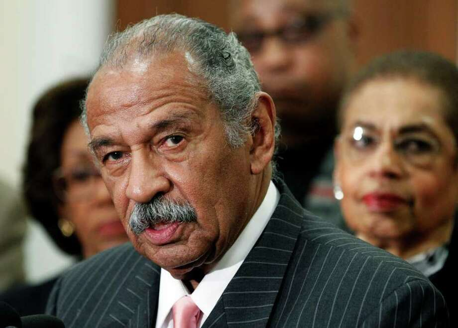 House Judiciary Committee ranking member Rep. John Conyers, D-Mich., speaks during a news conference on a Woman's Right to Choose on Capitol Hill in Washington, Tuesday, Feb. 8, 2011. Photo: AP