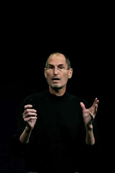 Steve Jobs, chief executive officer of Apple Inc., introduces the iPad 2 at an event in San Francisc