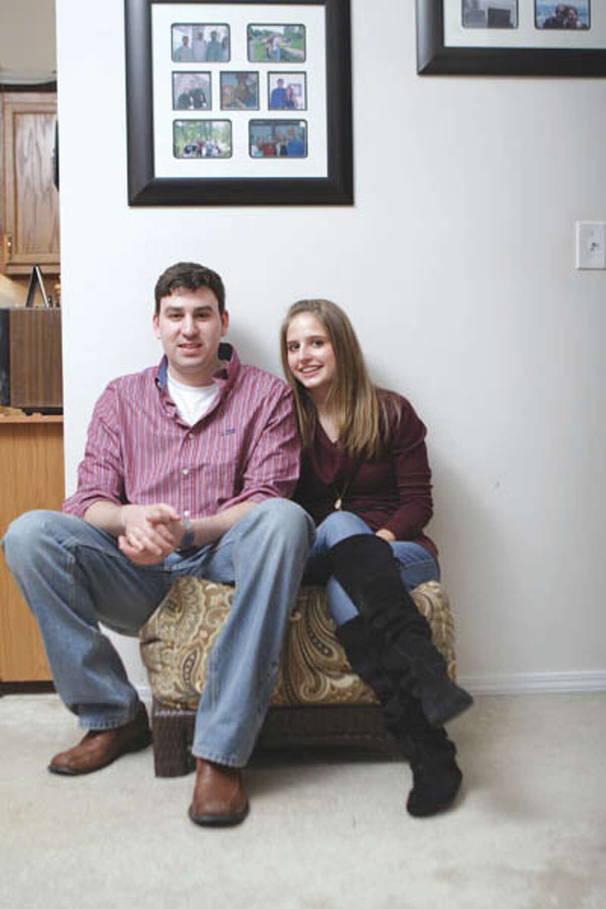 Grizzaffi shares a small apartment in Delmar with his high school sweetheart, Meredith Freebern. (Suzanne Kawola/Life@Home) Click here to read the story.
