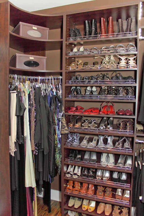 Erika Gallagher of Plum and Crimson Fine Interior Design in Saratoga Springs helped Fox with this rather remarkable closet design. (Nancy Bruno/Life@Home) Click here to read the story.