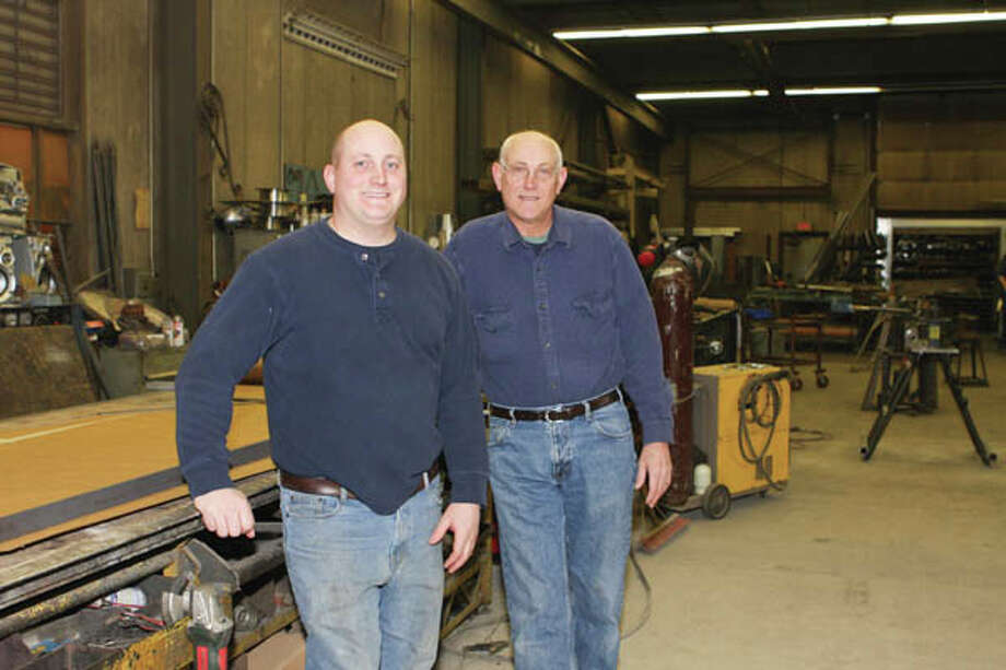 Father and son duo Steve Frey (at left) and Eric Frey are the owners of West End Iron Works. (Krishna Hill/Life@Home) Click here to read the story. Photo: Krishna Hill