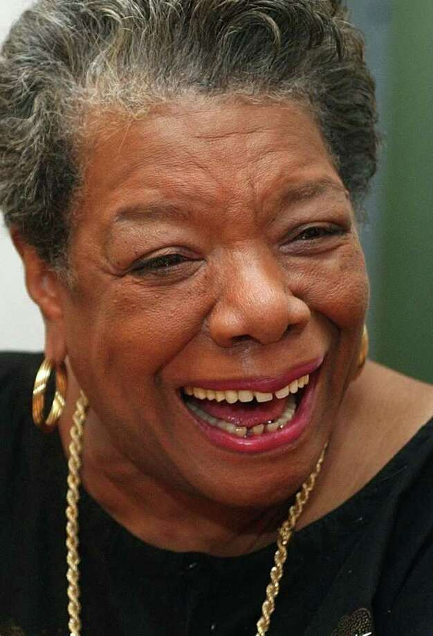 "Poet and author Maya Angelou will speak at Christ Church Greenwich as part of the church's ""Conversations on Courage and Faith"" series on Saturday, April 2. Photo: RICHARD DREW, ASSOCIATED PRESS / AP2002"
